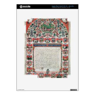 Jewish Marriage Contract (vellum) iPad 3 Skins