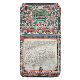 Jewish Marriage Contract (vellum) iPod Touch Case