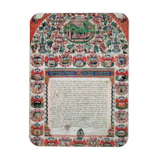 Jewish Marriage Contract vellum Flexible Magnets