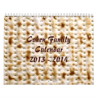 Jewish Matzo Wall Calendar, April 2013-March 2014