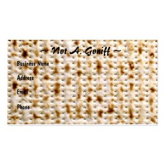 Jewish Matzoh Business Card ~ Customize!