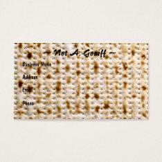 Jewish Matzoh Business Card ~ Customize! at Zazzle