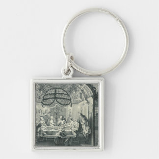 Jewish Meal During the Feast of the Tabernacles, i Keychain