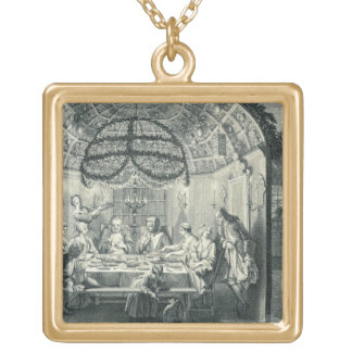 Jewish Meal During the Feast of the Tabernacles, i Necklace