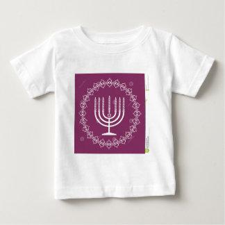 jewish-menorah-holiday-vector-background-27207795. baby T-Shirt