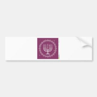 jewish-menorah-holiday-vector-background-27207795. bumper sticker