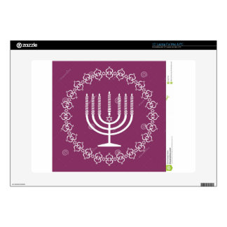 jewish-menorah-holiday-vector-background-27207795. decal for laptop