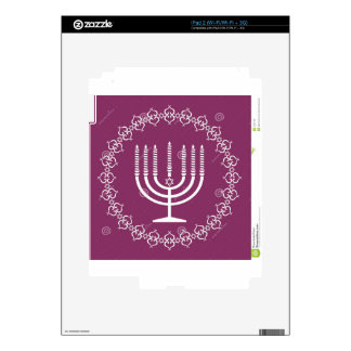 jewish-menorah-holiday-vector-background-27207795. decal for the iPad 2