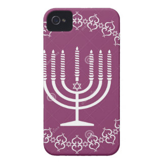jewish-menorah-holiday-vector-background-27207795. iPhone 4 Case-Mate case