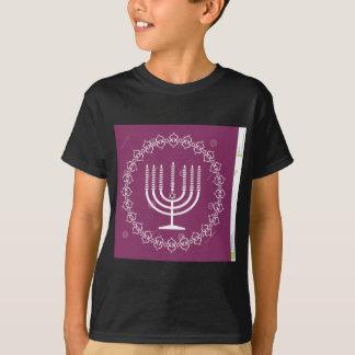 jewish-menorah-holiday-vector-background-27207795. T-Shirt