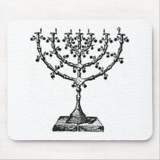 Jewish menorah mouse pad