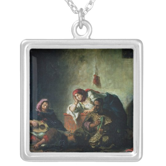 Jewish Musicians in Mogador, 1847 Silver Plated Necklace