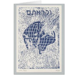 Jewish New Year card Leviticus 25:10