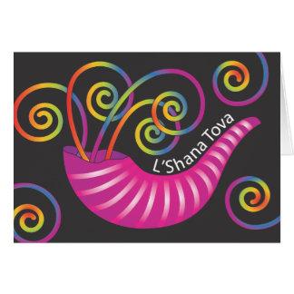 Jewish New Year Greeting Card with Shofar