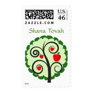 Jewish New Year Greeting Postage Stamp
