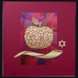 "Jewish New Year | Rosh Hashanah Challah Cover Napkin<br><div class=""desc"">L&#39;Shanah Tovah. Golden Apple ,  Shofar and Star of David Design Jewish New Year 