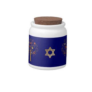 Jewish New Year. Rosh Hashanah Gift Candy Jar