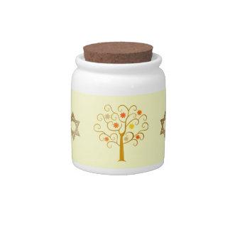 Jewish New Year. Rosh Hashanah Gift Candy Jars