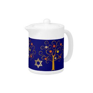 Jewish New Year. Rosh Hashanah Gift Teapot
