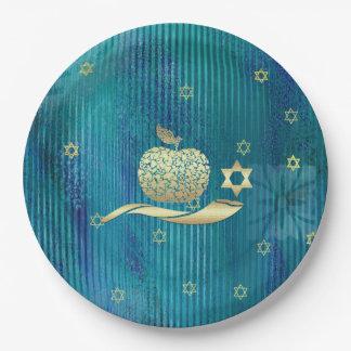 Jewish New Year   Rosh Hashanah Paper Plates 9 Inch Paper Plate