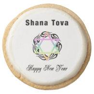 Jewish New Year Round Sugar Cookie
