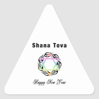 Jewish New Year Shana Tova Triangle Sticker