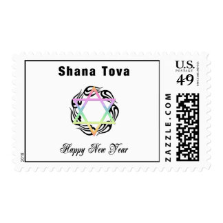 Jewish New Year Star of David Postage Stamps