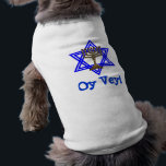 """Jewish OY VEY Dog Pet T-Shirt<br><div class=""""desc"""">Now your dog can express them self with fabulous fashion apparel.  Let your pup spell out its attitude with this awesome shirt and saying. Dog T-Shirts are great gifts making a big hit with that special pup&#39;s owner.</div>"""