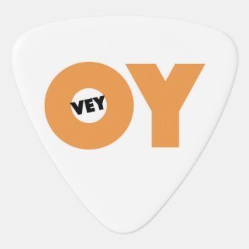 Jewish Party Favor  Oy Ve Guitar Pick by Jewishgift at Zazzle