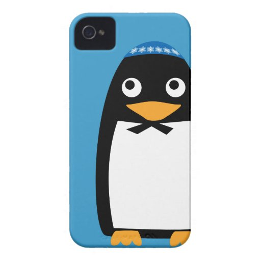 Jewish Penguin Iphone cell case blue iPhone 4 Cover