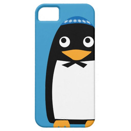 Jewish Penguin Iphone cell case blue