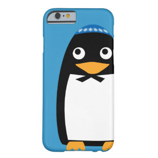 Jewish Penguin Iphone cell case blue Barely There iPhone 6 Case