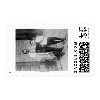 Jewish People with Tanakh on Yom Kippur Stamps