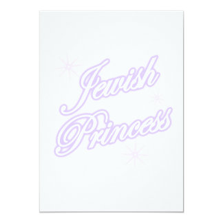 Jewish Princess lavender Card