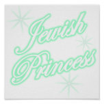 Jewish Princess teal Print