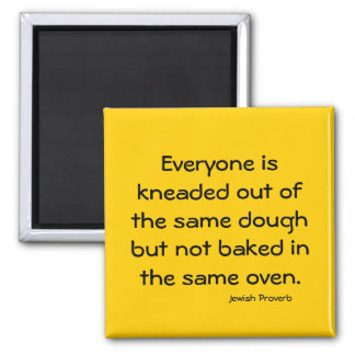 Jewish Proverb 2 Inch Square Magnet