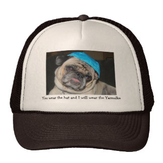 Jewish pug hat in brown