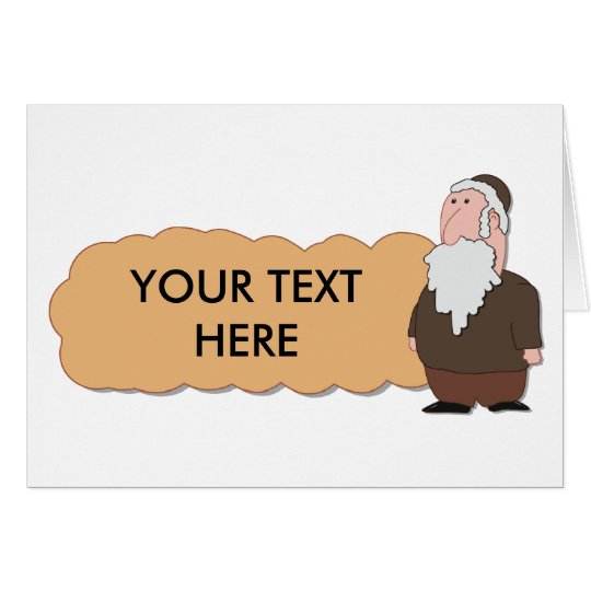 Jewish rabbi custumizable card