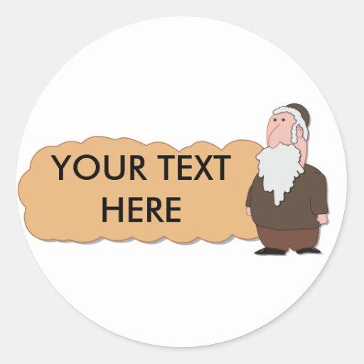 Jewish rabbi custumizable sticker
