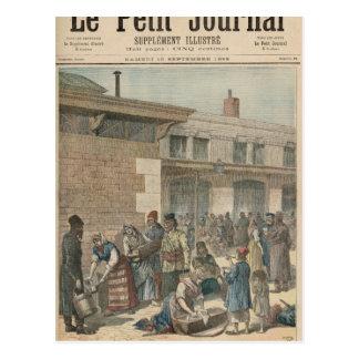 Jewish Refugee Camp Postcard