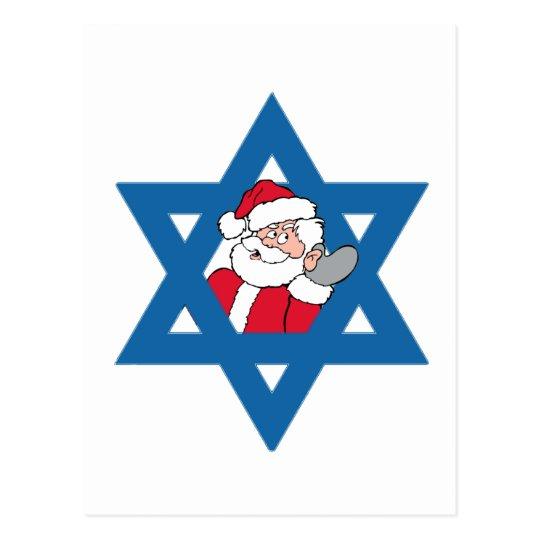 JEWISH SANTA POSTCARD