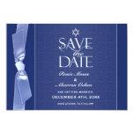 Jewish Save The Date Ribbon Flat Card