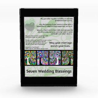Jewish Seven Wedding Blessings Tree Of Life Hamsa Acrylic Award