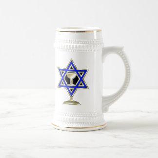 Jewish Star 18 Oz Beer Stein