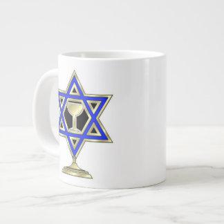 Jewish Star 20 Oz Large Ceramic Coffee Mug