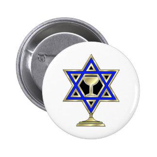 Jewish Star 2 Inch Round Button