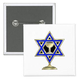Jewish Star 2 Inch Square Button