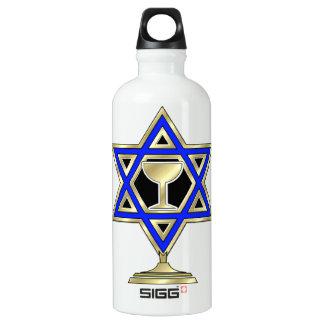 Jewish Star Aluminum Water Bottle