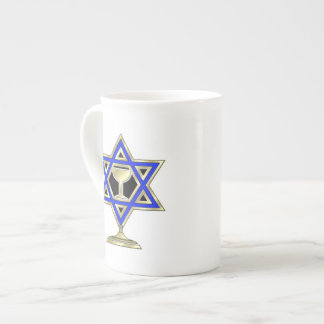 Jewish Star Bone China Mug