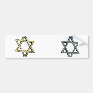 Jewish Star Bumper Sticker